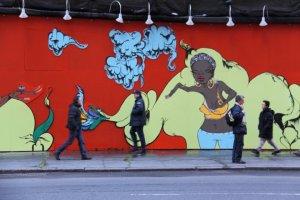 Sofia Maldonado - Times Square Mural (Detail)