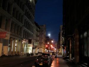 Early dawn on Prince Street NYC