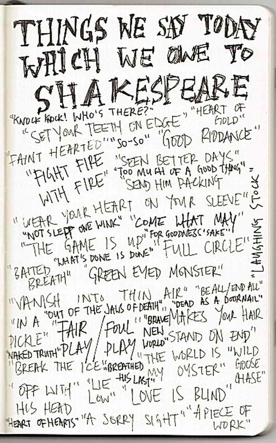 Shakespeare way of writing