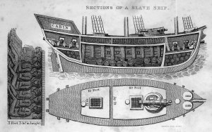 Cross section of a slave ship 1828-1829.