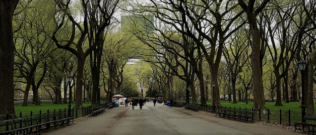 Central Park Promenade in early spring