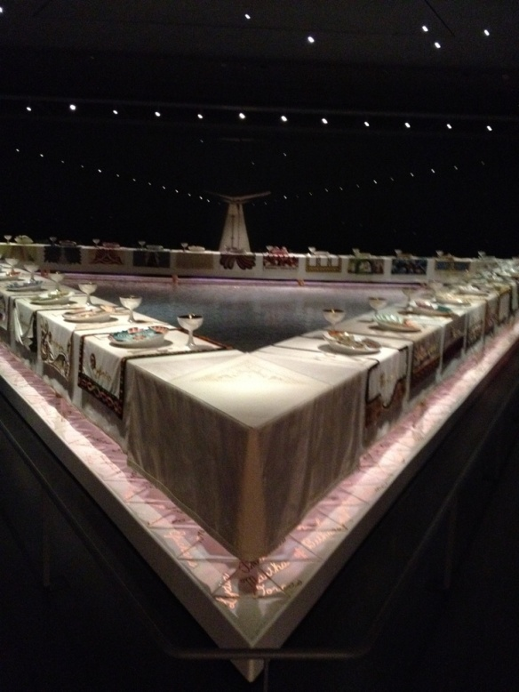 """The Dinner Party"" by Judy Chicago at Brooklyn Museun"