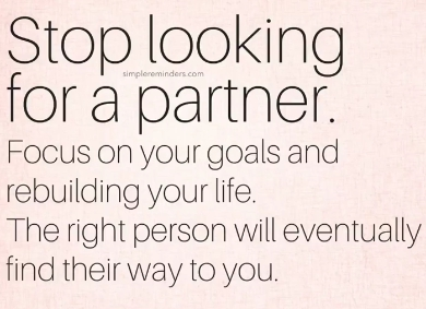 Stop looking for a partner...