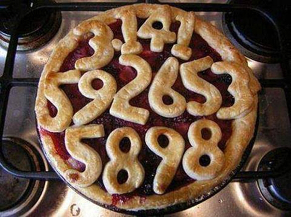 Pi Day - fruit pie with some of the mathematical numbers of π as its crust - Google.
