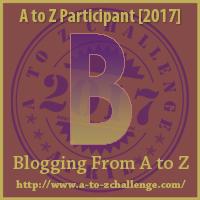A to Z Challenge 2017 - B logo