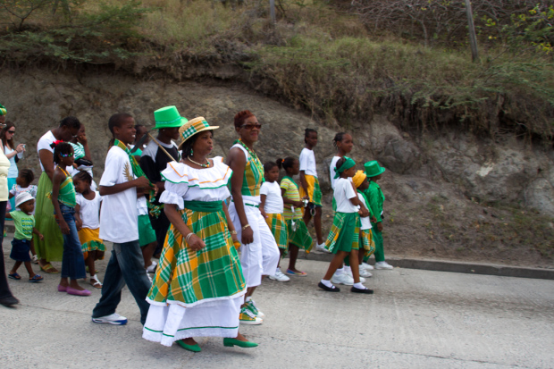 Part of a St. Patrick's Day Parade in Montserrat