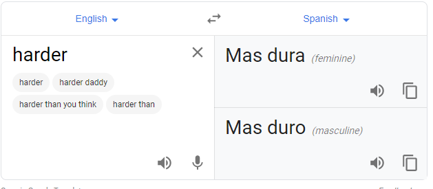 Google translate offering an unexpected phrase to translate.