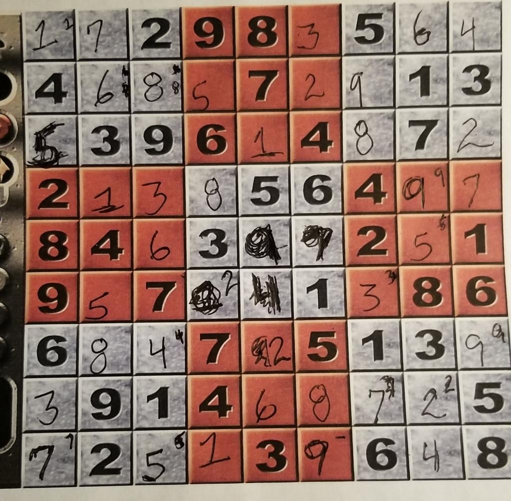 Sudoku game finished